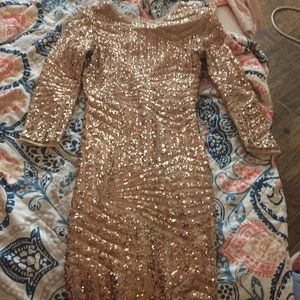 Gorgeous gold mesh dress